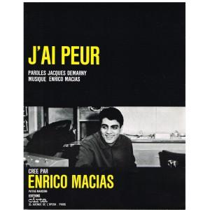 PARTITION DE ENRICO MACIAS - J'AI PEUR