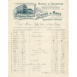 FACTURE BLANC & SOIERIES - CLERMONT FERRAND