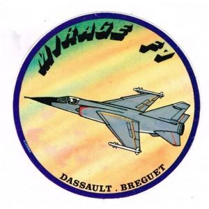 AUTOCOLLANT MIRAGE F1 - DASSAULT BREGUET