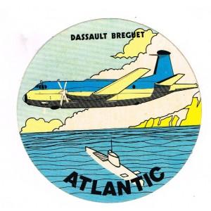 AUTOCOLLANT ATLANTIC - DASSAULT BREGUET