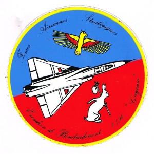 AUTOCOLLANT FORCES AERIENNES STRATEGIQUES - ESCADRON DE BOMBARDMENT GUYENNE.