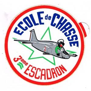 AUTOCOLLANT ECOLE DE CHASSE - 3ème ESCADRON