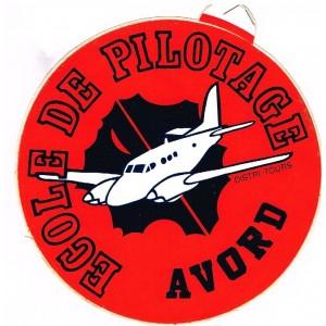 AUTOCOLLANT ECOLE DE PILOTAGE AVORD