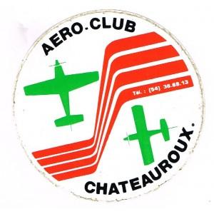 AUTOCOLLANT AERO-CLUB CHATEAUROUX