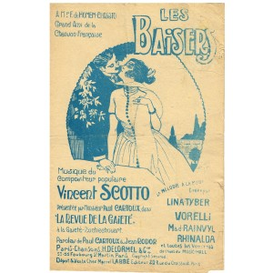 PARTITION DE VINCENT SCOTTO - LES BAISERS