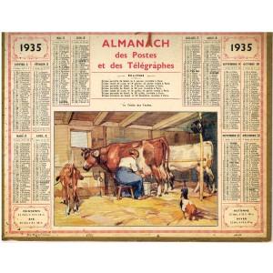CALENDRIER ALMANACH DES POSTES ET DES TELEGRAPHES 1935