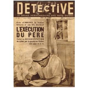 DETECTIVE N° 161 1er Août 1949 - L'EXECUTION DU PERE