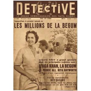 DETECTIVE N° 163 15 Août 1949 - LES MILLIONS DE LA BEGUM