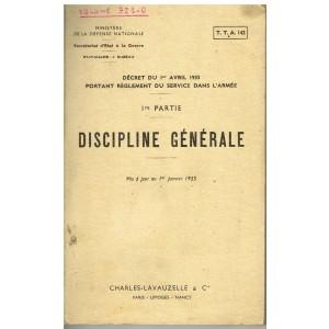 LIVRE - DISCIPLINE GENERALE - 1ère PARTIE