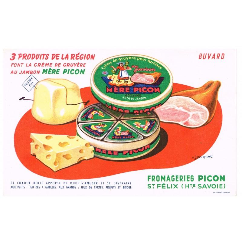 BUVARD MERE PICON : 3 PRODUITS DE LA REGION