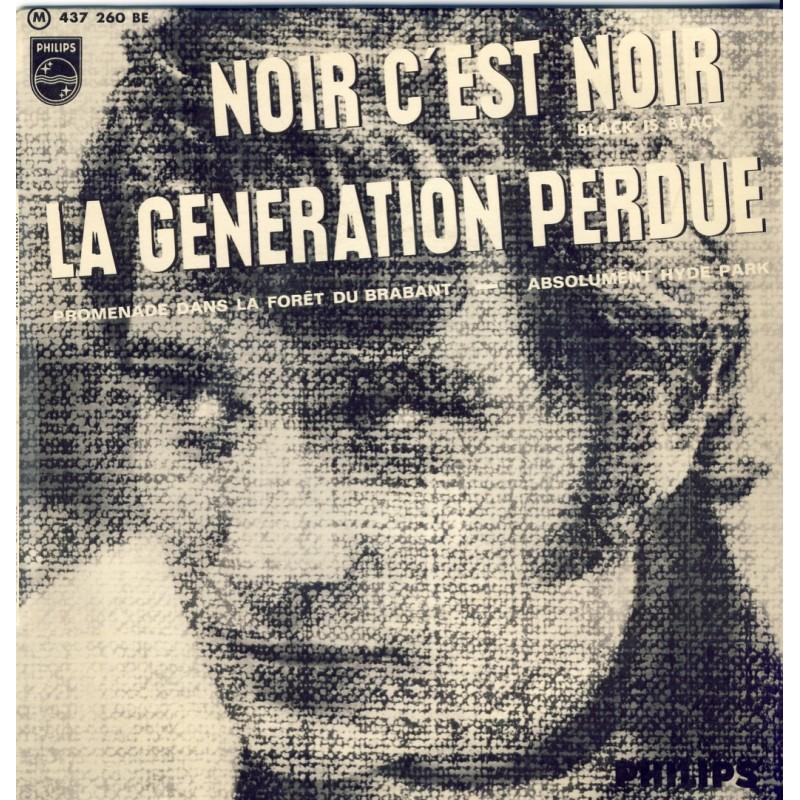 DISQUE 45 TOURS 17 cm EP BIEM. JOHNNY HALLYDAY - NOIR C'EST NOIR