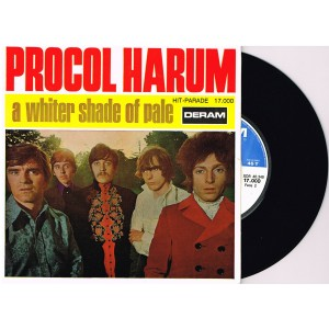 DISQUE 45 TOURS 17 cm SP BIEM -  PROCOL HARUM - A WHITER SHADE OF PALE