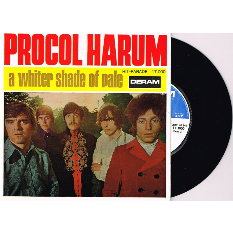DISQUE 45 TOURS 17 cm SP BIEM -  PROCOL HARUM - A WHITER SHADE OF PALE