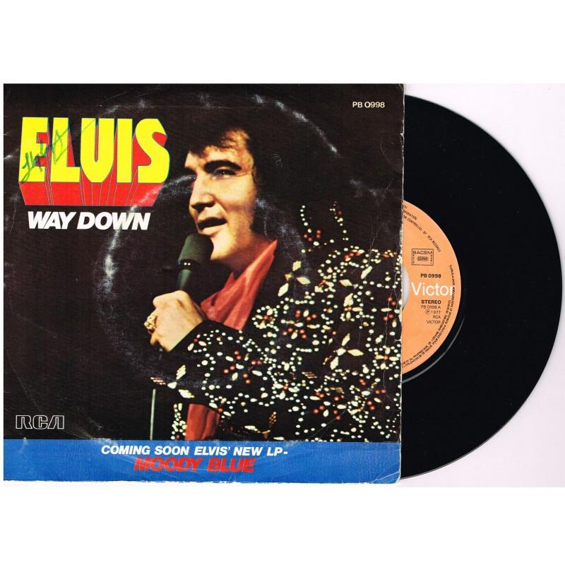 DISQUE 45 TOURS 17 cm : ELVIS PRESLEY  - WAY DOWN