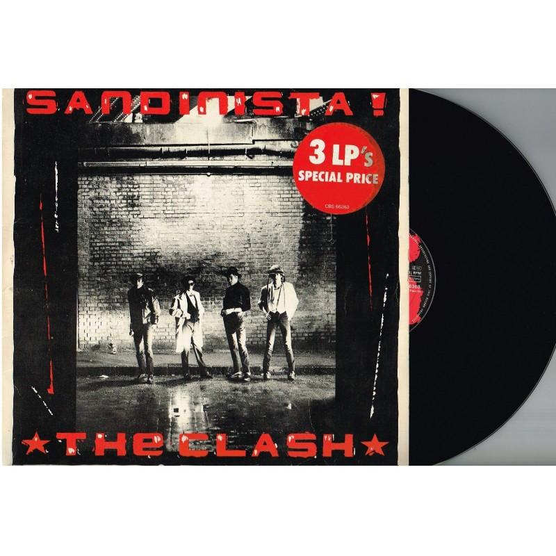 3 DISQUES 33 TOURS  - THE CLASH - SANDINISTA