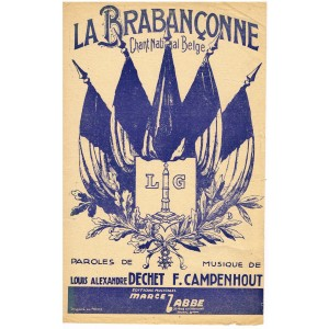 PARTITION DU CHANT NATIONAL BELGE - LA BRABANCONNE