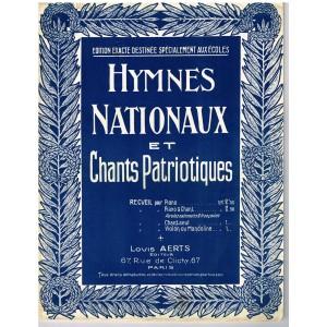 RECUEIL DE PARTITIONS HYMNES NATIONAUX ET CHANTS PATRIOTIQUES
