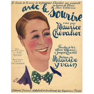 PARTITION DE MAURICE CHEVALIER - AVEC LE SOURIRE