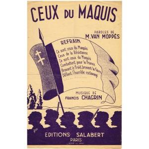 PARTITION - CEUX DU MAQUIS