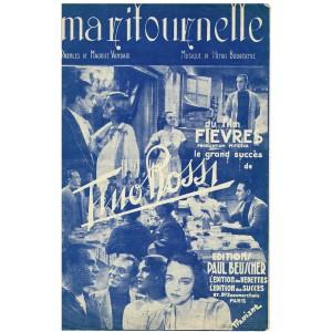 PARTITION DE TINO ROSSI - MA RITOURNELLE, du film FIEVRES