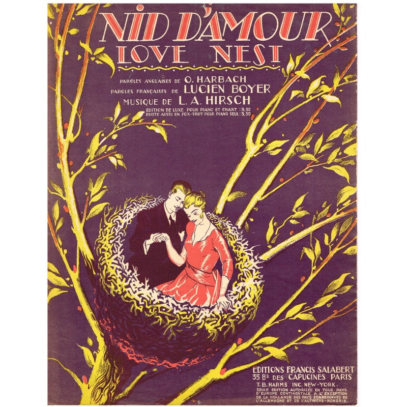 PARTITION FOX TROT - NID D'AMOUR - LOVE NEST