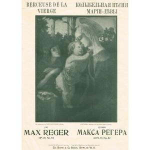 PARTITION MUSIQUE CLASSIQUE - BERCEUSE DE LA VIERGE.
