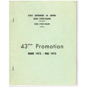 LIVRE - 43ème PROMOTION DE L'ECOLE D'ETAT-MAJOR