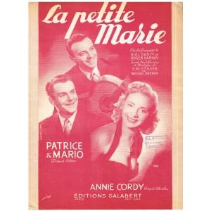 PARTITION DE ANNIE CORDY - LA PETITE MARIE
