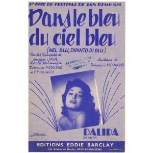 PARTITION DE DALIDA - DANS LE BLEU DU CIEL BLEU