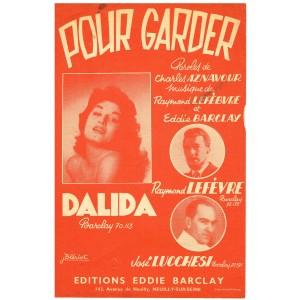 PARTITION DE DALIDA - POUR GARDER