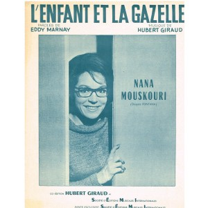 PARTITION DE NANA MOUSKOURI - L'ENFANT ET LA GAZELLE