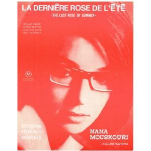 PARTITION DE NANA MOUSKOURI - LA DERNIERE ROSE DE L'ETE