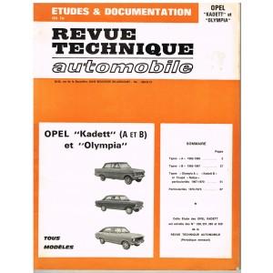 "REVUE TECHNIQUE AUTOMOBILE 1974 - OPEL ""KADETT"" ET ""OLYMPIA"""