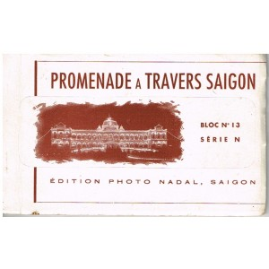 CARTES POSTALES EN CARNET -  PROMENADE A TRAVERS SAÏGON - BLOC N° 13 SERIE N