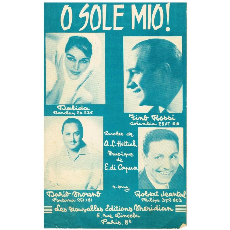 PARTITION DE DALIDA O SOLE MIO ! (MON SOLEIL)