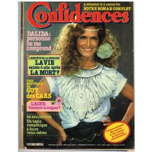 CONFIDENCES N° 1769 OCTOBRE 1981 DALIDA : PERSONNE NE ME COMPREND