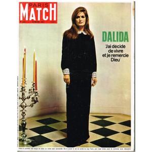 PARIS MATCH N° 937 MARS 1967 - DALIDA : J'AI DECIDE DE VIVRE ET JE REMERCIE DIEU
