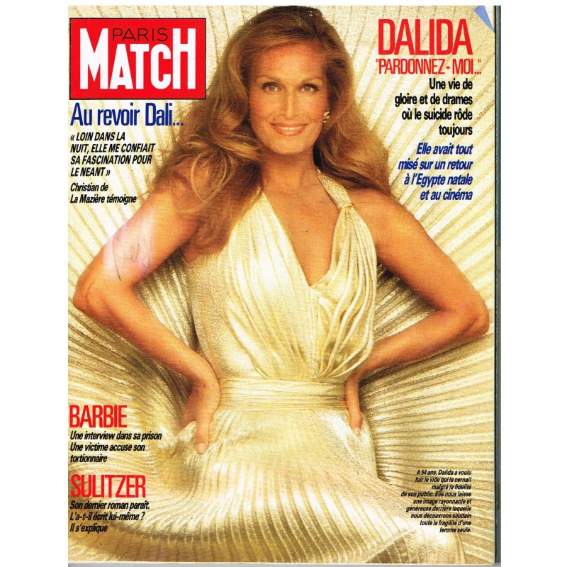 "PARIS MATCH N° 1981 MAI 87 - DALIDA : ""PARDONNEZ-MOI..."""