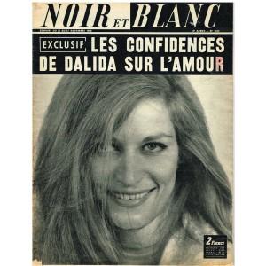 NOIR ET BLANC N° 1234  NOVEMBRE 1968 - LES CONFIDENCES DE DALIIDA SUR L'AMOUR