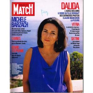 PARIS MATCH N° 1982 MAI 87 - DALIDA : L'ADIEU DES AMIS