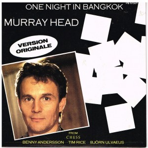 DISQUE 45 TOURS  MURRAY HEAD - ONE NIGHT IN BANGKOK : VERSION ORIGINALE