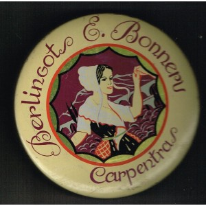BOITE METAL ANCIENNE BERLINGOTS E. BONNERU DE CARPENTRAS