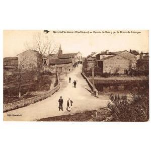 CP87 - SAINT PARDOUX - ENTREE DU BOURG PAR LA ROUTE DE LIMOGES