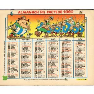 CALENDRIER ALMANACH DU FACTEUR 1990 - ASTERIX