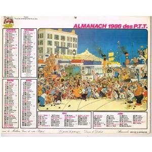 CALENDRIER ALMANACH DU FACTEUR 1986 - DUBOUT