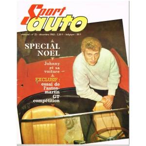 SPORT AUTO N° 23 DECEMBRE 1963 - SPECIAL NOËL JOHNNY ET SA VOITURE
