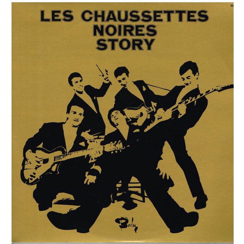 DISQUE DOUBLE 33 TOURS LES CHAUSSETTES NOIRES STORY AVEC EDDY MITCHELL