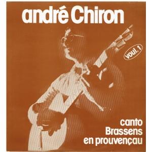 DISQUE 33 TOURS ANDRE CHIRON - CANTO BRASSENS EN PROVENCAU