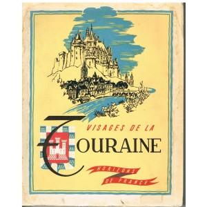 LIVRE - VISAGES DE LA TOURAINE - P. LEVEEL, J. - M. ROUGE, E. DACIER, J. GUIGNARD
