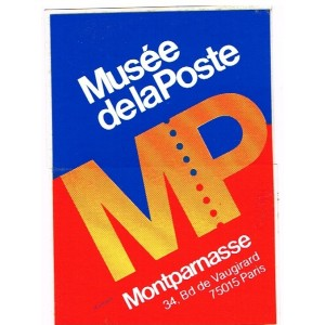 AUTOCOLLANT  MUSEE DE LA POSTE - MP MONTPARNASSE